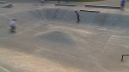 HD2009-5-10-23 skateboard park hispd Footage
