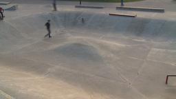 HD2009-5-10-23 skateboard park hispd Stock Video Footage