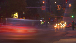 HD2009-5-10-27 traffic night hispd Stock Video Footage
