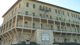 HD2009-11-1-8 Alcatraz building Stock Video Footage