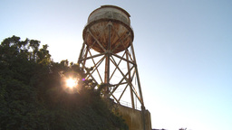 HD2009-11-1-14 Alcatraz watertower Stock Video Footage