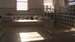 HD2009-11-1-18 Alcatraz interior 3shot Stock Video Footage
