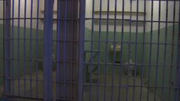 HD2009-11-1-22 Alcatraz prison cell track Stock Video Footage