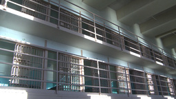 HD2009-11-1-32 Alcatraz prison cells Stock Video Footage