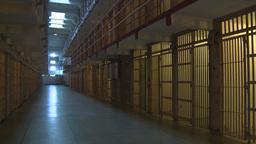 HD2009-11-1-38 Alcatraz prison cells pan tilt Stock Video Footage