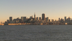 HD2009-11-2-1 San Fran City by boat Stock Video Footage