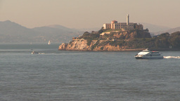 HD2009-11-2-3 Alcatraz islandand high speed cat ferry Footage