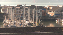 HD2009-11-2-7 sailboat marina Footage