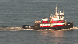 HD2009-11-2-11 tugboat through frame Stock Video Footage
