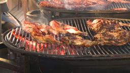 HD2009-11-2-17 BBQ chicken Stock Video Footage