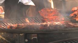 HD2009-11-2-19 BBQ chicken Footage