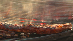 HD2009-11-2-21 BBQ ribs Stock Video Footage