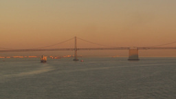 HD2009-11-2-25 bay bridge at sunset Footage