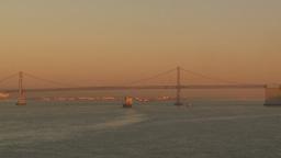 HD2009-11-2-25 bay bridge at sunset Stock Video Footage