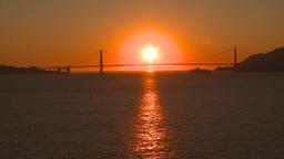 HD2009-11-2-27 GG bridge at sunset Stock Video Footage