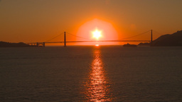 HD2009-11-2-27 GG bridge at sunset Stock Video Footage