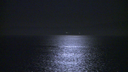 HD2009-11-2-29 night full moon at sea reflectiononly Stock Video Footage