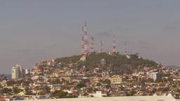 HD2009-11-3-5 Mazatlan TV towers Stock Video Footage