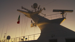 HD2009-11-3-29 ship mast evening Footage