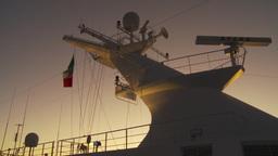 HD2009-11-3-29 ship mast evening Stock Video Footage