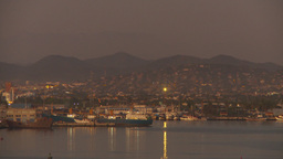 HD2009-11-3-33 harbour dusk lights warm Stock Video Footage
