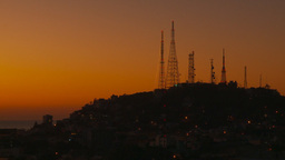 HD2009-11-4-6 Mazatlan TV towers at night Stock Video Footage
