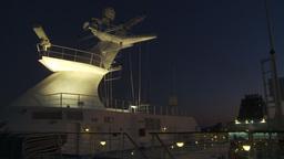 HD2009-11-4-8 ship mast night Stock Video Footage