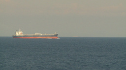 HD2009-11-5-2 Cargo ship at sea Stock Video Footage