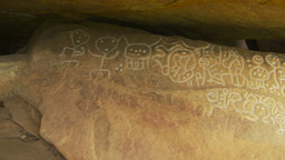HD2009-11-5-29 petroglyphs x3 no stab Stock Video Footage