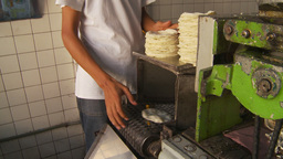HD2009-11-7-17 making tortillas Stock Video Footage