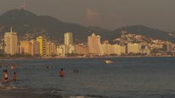 HD2009-11-7-29 Aculpoco bay beach condos at sunset Stock Video Footage