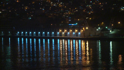 HD2009-11-7-35 Aculpoco lights refelct on water Stock Video Footage