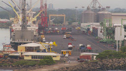 HD2009-11-8-4 industry, harbor ships and docks Stock Video Footage