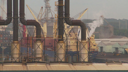 HD2009-11-8-6 industry, harbor ships and docks and power gen Footage