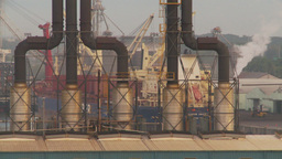 HD2009-11-8-6 industry, harbor ships and docks and power gen Stock Video Footage