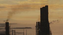HD2009-11-8-10 industry, power gen stacks Stock Video Footage