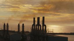 HD2009-11-8-12 industry, power gen stacks smoke Footage