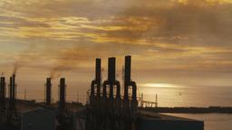 HD2009-11-8-12 industry, power gen stacks smoke Stock Video Footage