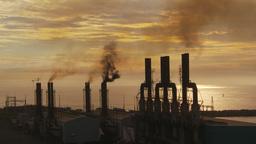 HD2009-11-8-14 industry, power gen stacks smoke Stock Video Footage