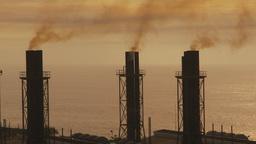 HD2009-11-8-16 industry, power gen stacks smoke Footage