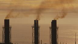 HD2009-11-8-16 industry, power gen stacks smoke Stock Video Footage
