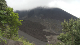 HD2009-11-8-24 guatemala people hiking volcano trail Stock Video Footage