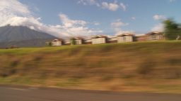 HD2009-11-8-37 guatemala drivepast development volcano Footage