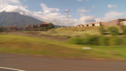 HD2009-11-8-37 guatemala drivepast development volcano Stock Video Footage