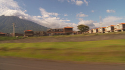 HD2009-11-8-37 guatemala drivepast development volcano Stock Video Footage