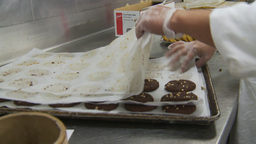 HD2009-11-9-12 food prep cookies Footage