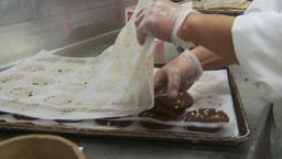 HD2009-11-9-12 food prep cookies Stock Video Footage