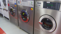 HD2009-11-9-18 industrial laundry machines Stock Video Footage