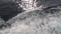 HD2009-11-10-5 ships wake Stock Video Footage