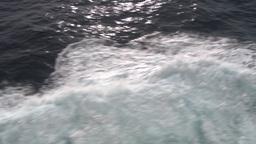 HD2009-11-10-7 ships wake Stock Video Footage